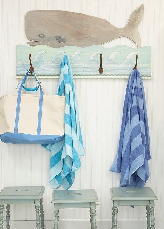 custom whale coat rack