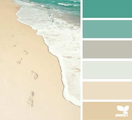 beach sand and sea color palette