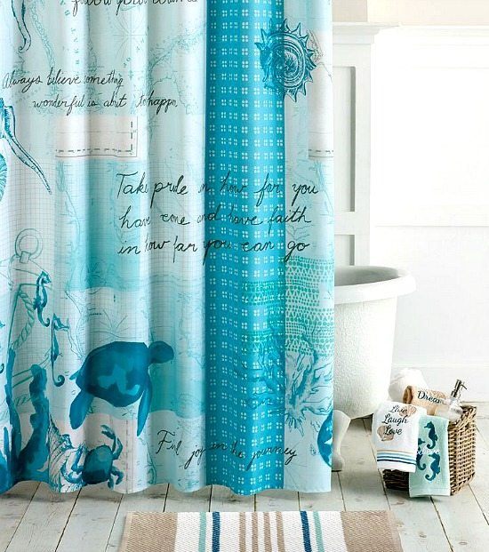 Beach Shower Curtains Bath Accessories Lake Theme Shower Curtains