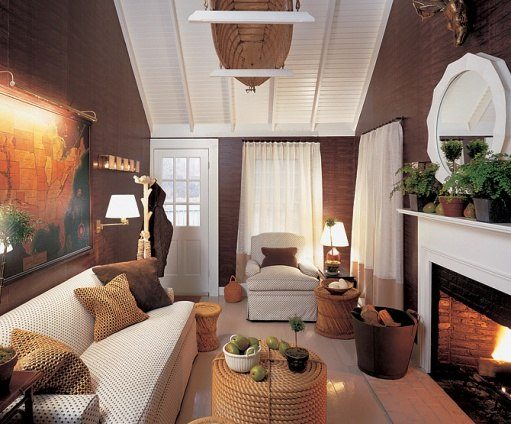 Nantucket cottage modern living room
