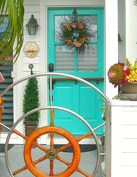 Turquoise Entry Door