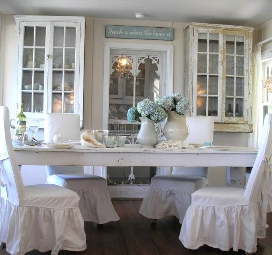Cottage Dining Room: Shabby Chic Beach Cottage On Casey Key, Florida