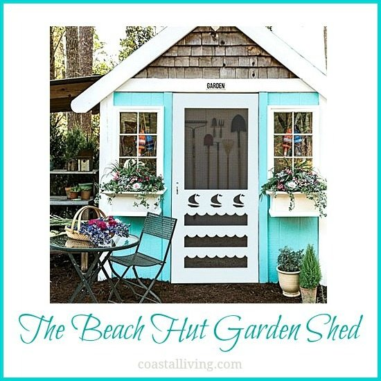 Beach Hut Garden Shed Turquoise