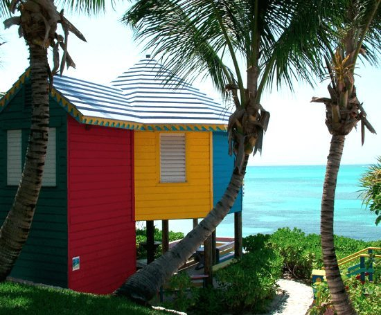 Colored Beach Cottage Bahamas