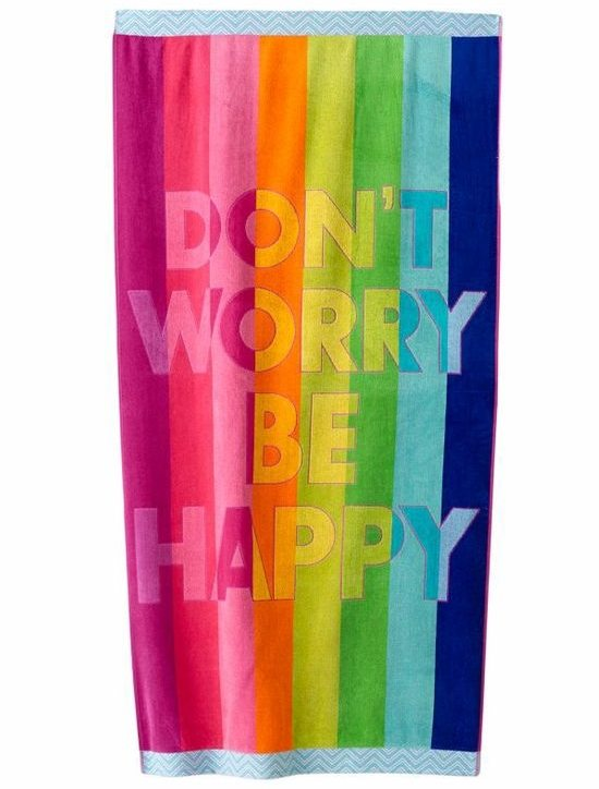 Beach Towel with Saying