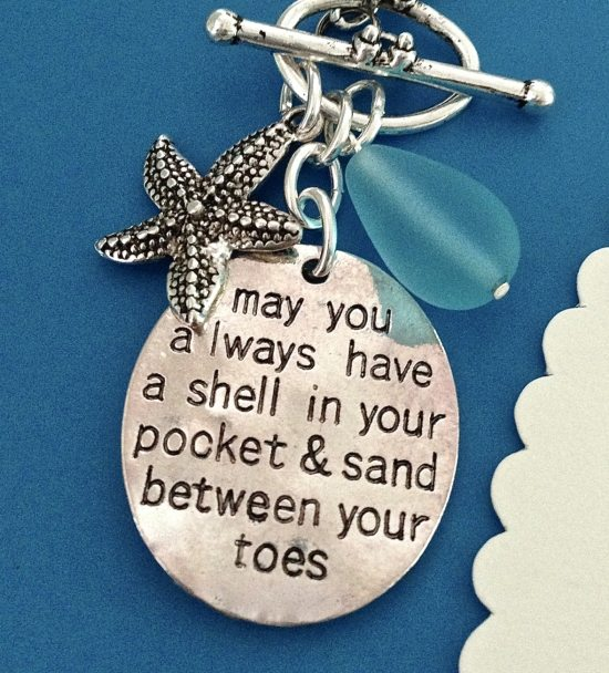 Beach Jewelry with Saying
