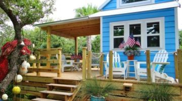 Tiny (RV) Beach House Cottage Living on St. George Island Florida