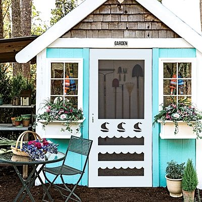 Turquoise Garden Shed