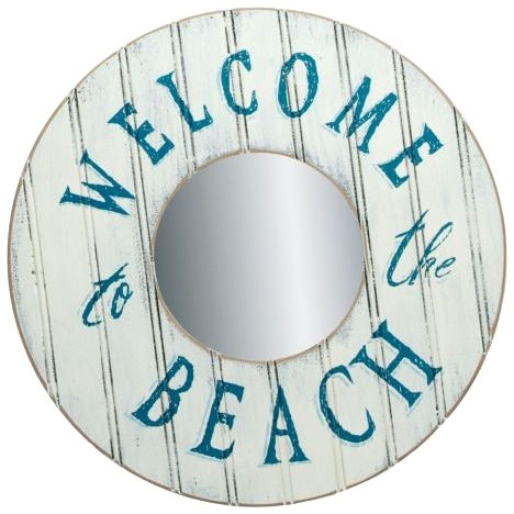 Welcome to the Beach Mirror Sign