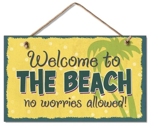 Tropical Welcome to the Beach Sign
