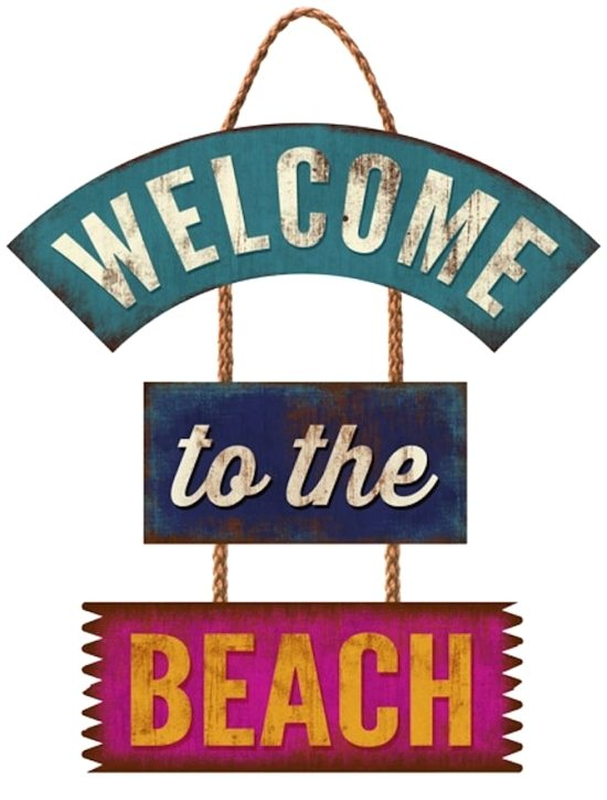 Welcome to the Beach Trio Sign