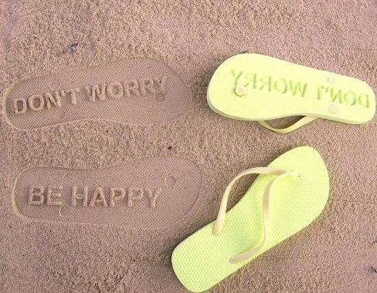 Imprint Flip Flops with Sayings