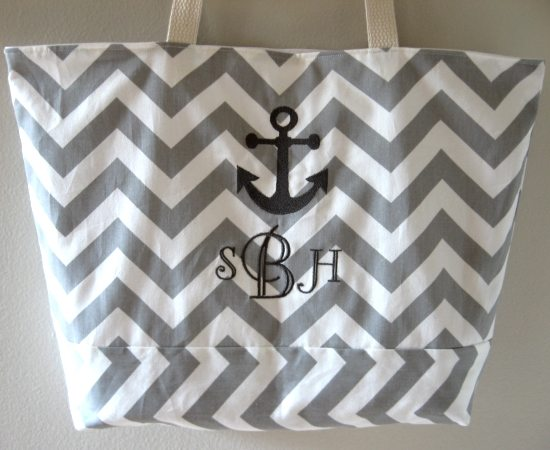 Beach Bag with Initials