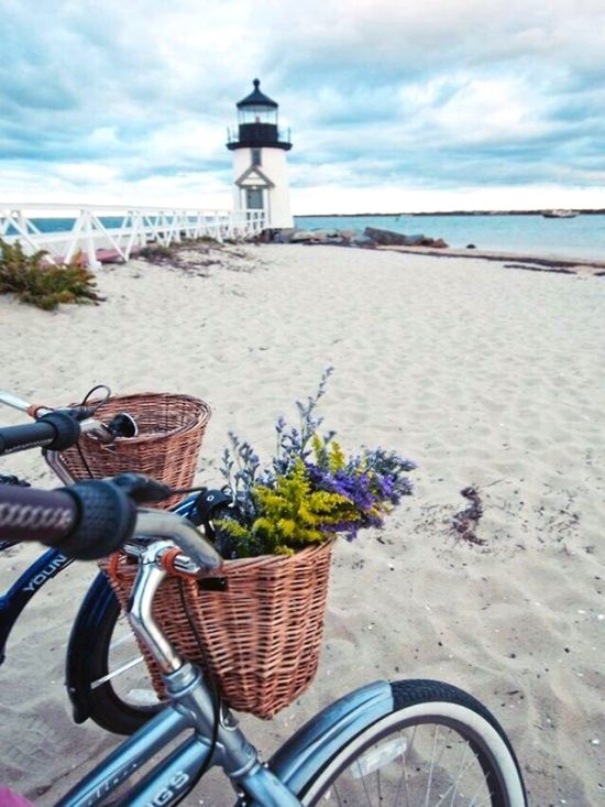 Beach Cruisers with Bike Baskets on Nantucket
