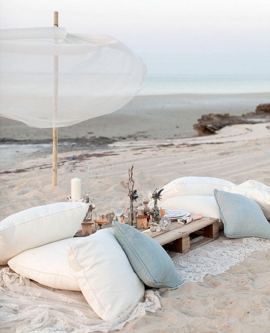 Wedding Inspiration Beach Picnic