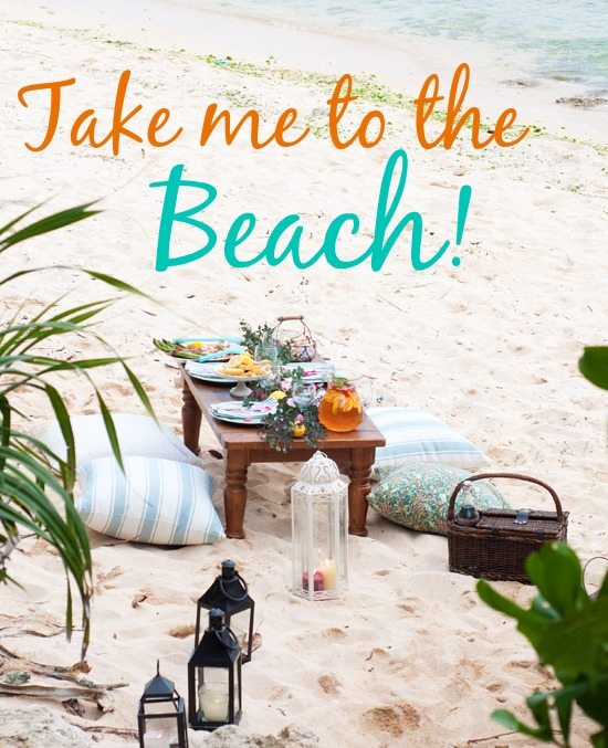 Beach Picnic with Table