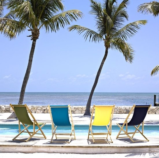 Colorful Beach Sling Chairs