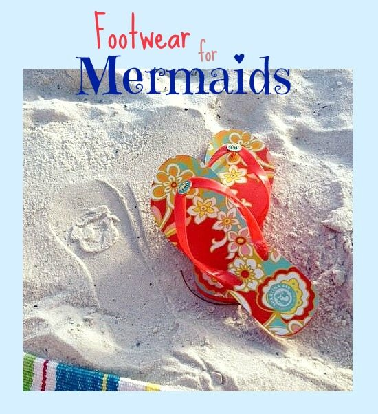 Fiddlers Cove flip Flops with Mermaid