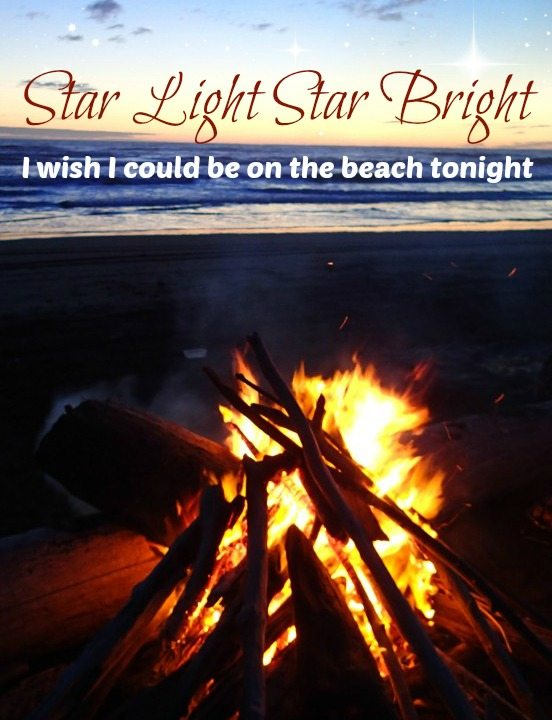 Star Light Star Bright I wish I could be on the Beach tonight