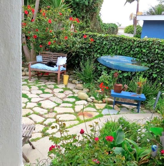 Surf Board Cottage Garden