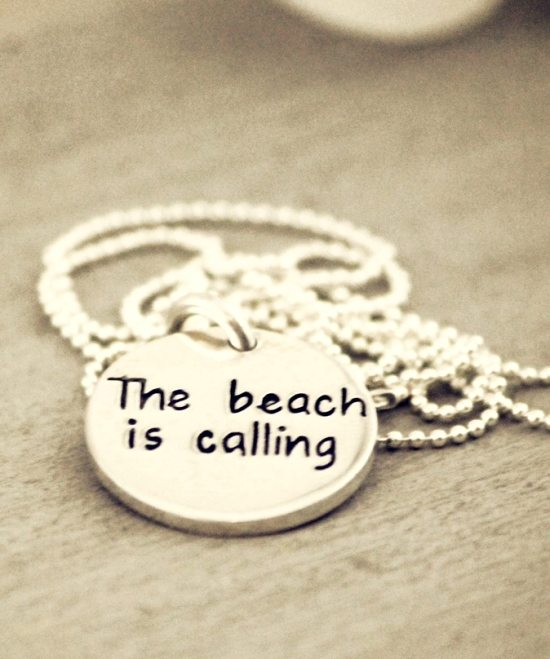 Beach Quote Necklace