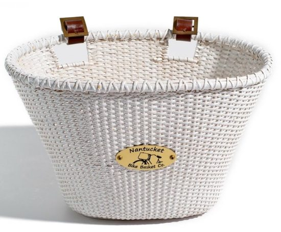 White Bike Basket