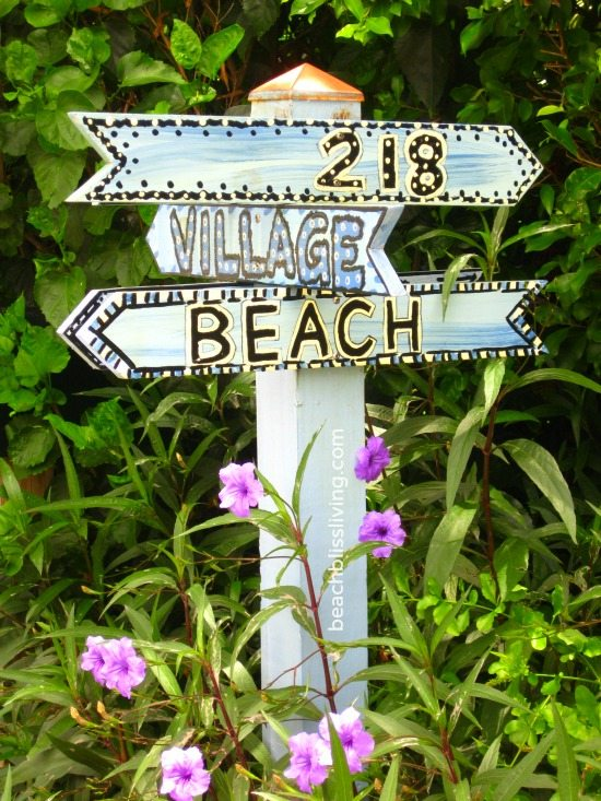 Beach Sign Post Delray FL
