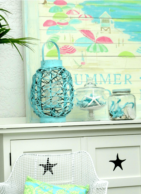 Summer Mantel in a Beach Cottage