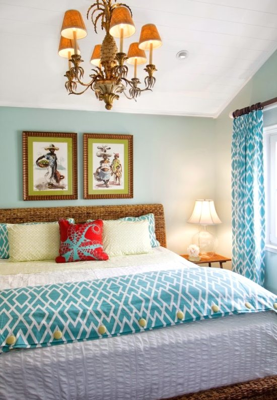 Tropical Beach Cottage Bedroom