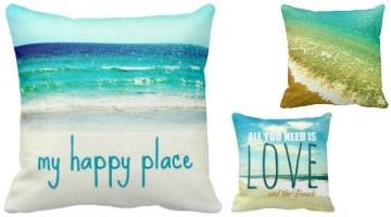 Photo Pillows & Quote Pillows that Capture the Beach Experience