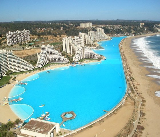 San alfonso del mar resort has the largest artificial - The biggest swimming pool in chile ...