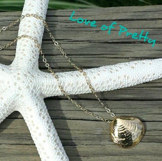 Seashell Necklace Gold