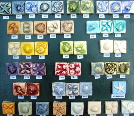 Ceramic Seashell Tiles