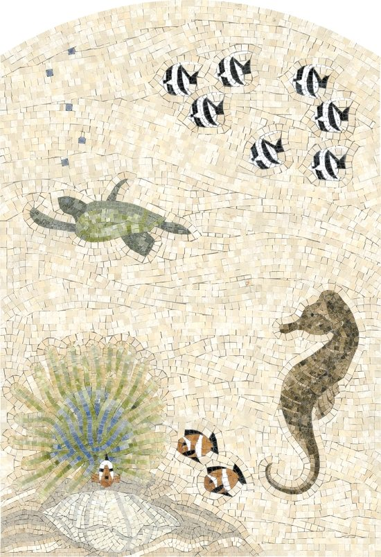 Coral Sea Life Tile Art