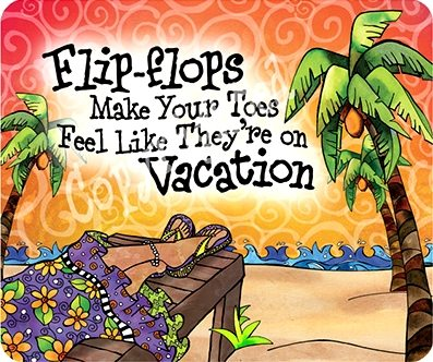 Flip Flop Art with Saying