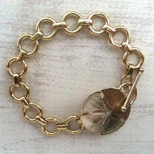 Gold Beach Bracelet Sand Dollar