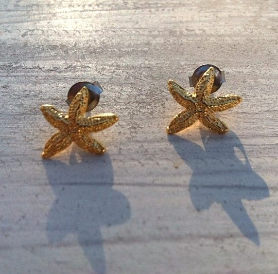 Starfish Earrings Gold
