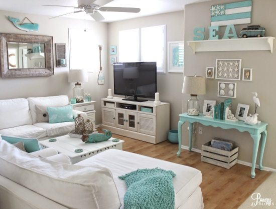 Beach Cottage Decorating Ideas Pictures: Easy Breezy Living In An Aqua Blue Cottage