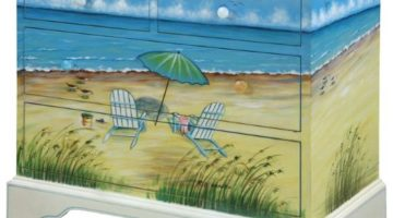 Art & Function with Beach Furniture -Painted Dressers, Chests & more