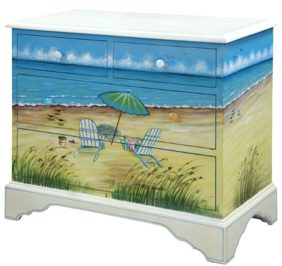 Art Function With Beach Furniture Painted Dressers Chests More Beach Bliss Living