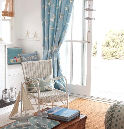 Beach Theme Window Treatment