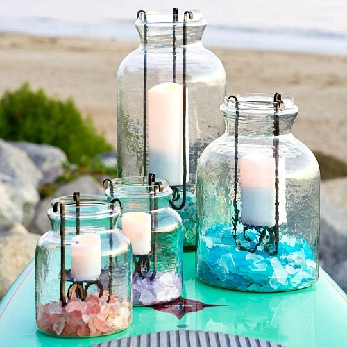 Fillable Candle Holder with Insert