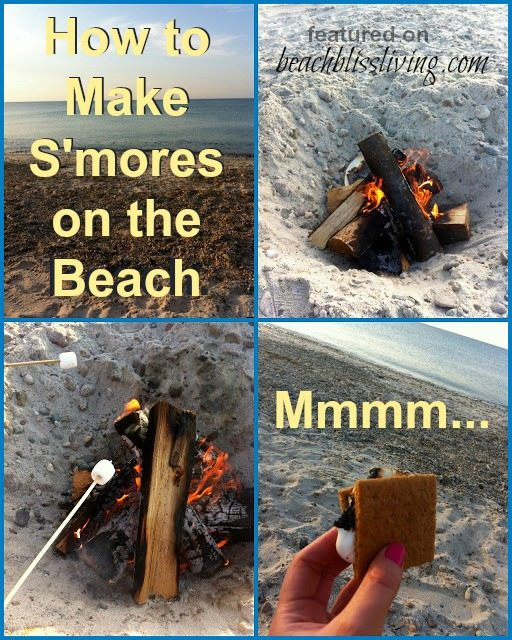 How to Make Smores on the Beach
