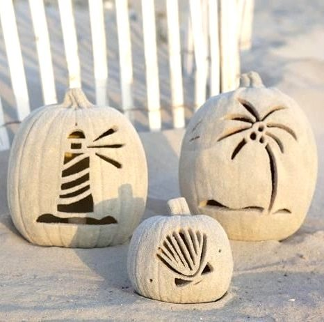 Craved Beach Sand Pumpkins