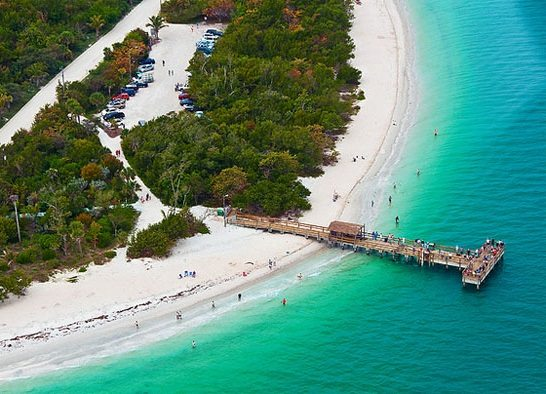Sanibel Lighthouse Beach with Pier