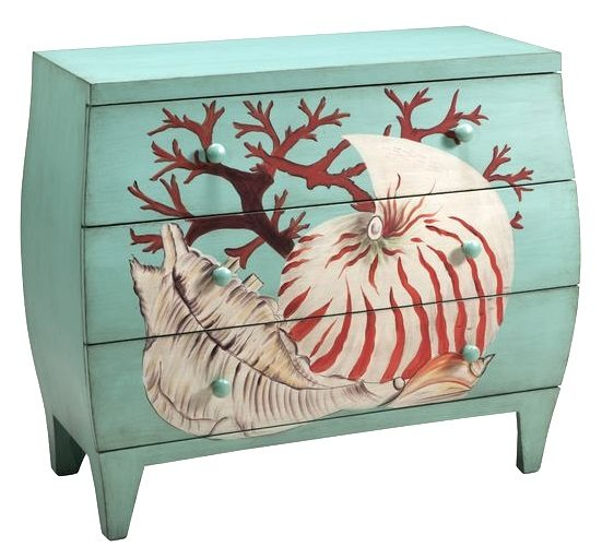 Painted Shell Coral Chest