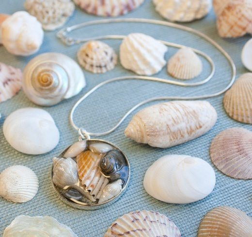 Seashell Resin Bezel Jewelry Making