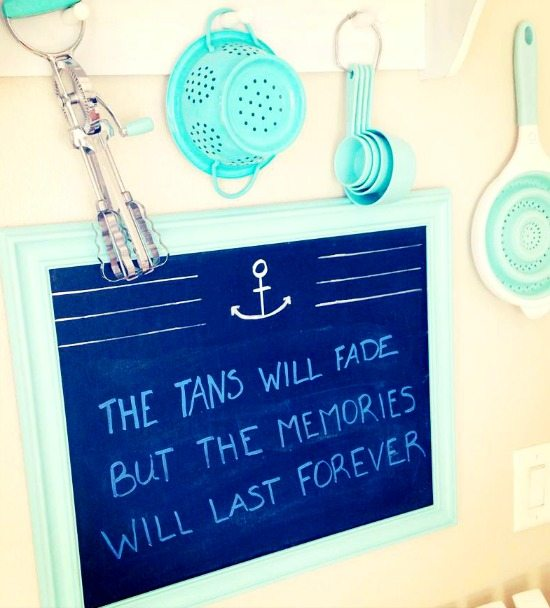 The Tans will Fade Beach Memories Chalkboard Sign