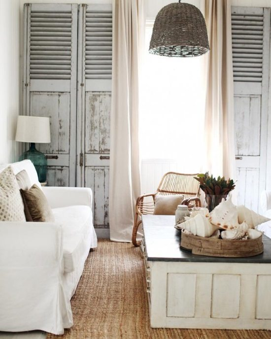 White Shabby Chic Beach Decor