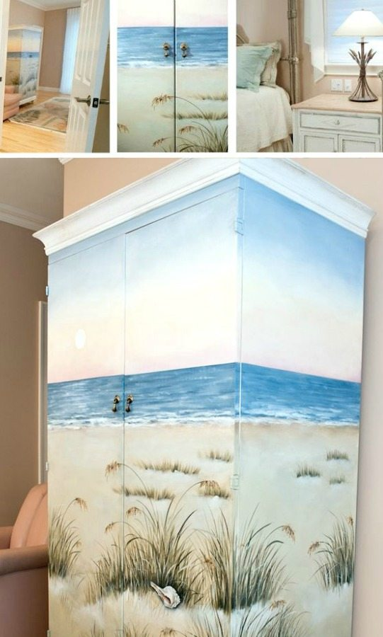 Beach Theme Painted Furniture for Bedroom